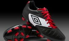 Black White Red Umbro Geometra Premier A FG Football Boots Leather Upper UK 11