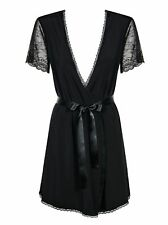 Robe Negligee Miamor inkl. String schwarz Obsessive 36 38 40 42 44 Morgenmantel