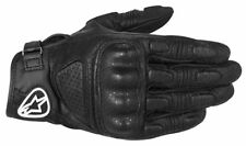 Guanti Alpinestars Pelle Pista Moto MUSTANG Leather Glove Stealth Black 1000