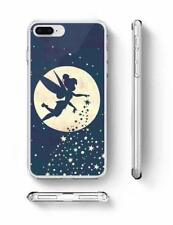 Tinkerbell phone case Moon Stars rubber silicone iPhone 6s 7 8 Plus X S7 S8 UK