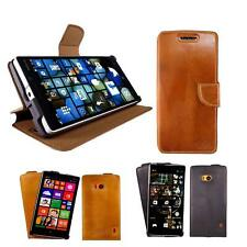 Akira Manufactura Cuero Genuino Funda Nokia Lumia 930 Billetera Case Farbe
