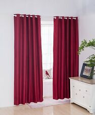 Thermal Insulated Blackout Curtains Eyelet Flocking Fabric Lining Bedroom Sheen