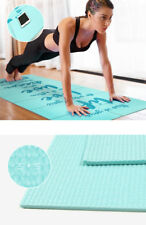 Thick 5mm Yoga Mat Exercise Fitness Pad Non Slip Extra Pilates Workout Durable