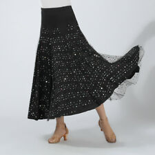 vestito da gonna lunga in paillettes con paillettes da ballo di flamenco