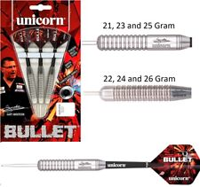 Gary Anderson Bullet - Stainless Steel - Steel Tip Darts by Unicorn - 21g to 26g