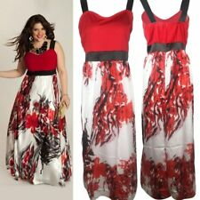 Plus Size Women Long Evening Party Prom Gown Formal Bridesmaid Cocktail Dress HW
