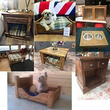 Solid wood handmade dog pet bed, coffee table, side board & PET BUTCHERS TABLE