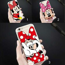 cubierta de la caja CASE silicone minnie mickey disney para iphone 5 6 6S 7 8