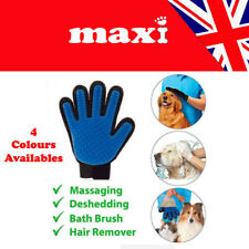 Dog Grooming Glove Pet Dog Cat Massage Stripping Hair Remover Brush Right Left
