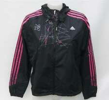 2012 London Olympics Adidas Ladies Black Windbreaker Running Jacket RRP £52 BNWT