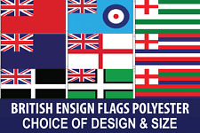 BRITISH ENSIGN POLYESTER FLAGS VARIOUS DESIGNS AND SIZES FAST & FREE UK DELIVERY