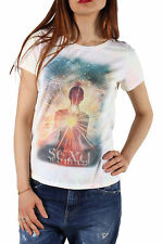 *86364 T-SHIRT DONNA  SEXY WOMAN COLORE MULTICOLORE