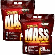 Mutant Mass Protein Muscle Weight Gainer 2 x 6.8kg Mass Gain PVL Whey Gainer
