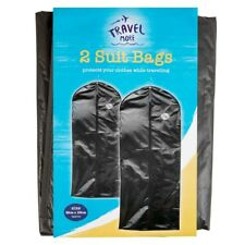 2 x BLACK PACK SUIT BAG DRESS CLOTHES BAGS TRAVEL PROTECTOR CARRIER GARMENT BAGS