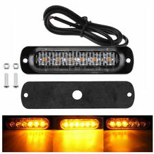 Amber 6 LED 18W Bar Car Truck Strobe Flash Emergency Warning Light Lamps 12V-24V