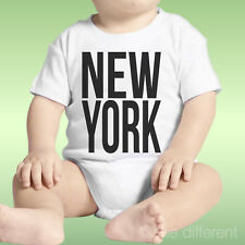 Body Neonato Unisex Scritta New York Nera Idea Regalo