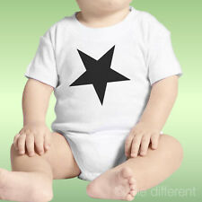 Body Neonato Unisex Stella Nera Black Star Minimal Idea Regalo