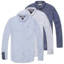 TOMMY HILFIGER CAMICIA - JEANS OXFORD T-SHIRT MANICA LUNGA - Navy/Bianco/ Cielo