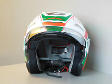 AFX FX 50 Señal Blanco / Verde / ROJO CASCO JET Tour Scooter Moto Cross