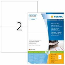 HERMA 8691 Address labels Premium sheetsize A5 105x148 mm white paper matt 800 p
