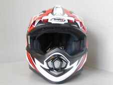 SHIRO mx734 CASCO CROSS Blanco Rojo Mx Motocross Cross snowbord Casco