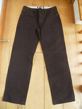 FAT FACE DARK CHOCOLATE BROWN EASY TROUSERS JEANS 30 WAIST BNWT TWILL