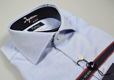 Camicia Ingram Cotone Oxford No Stiro Doppio Ritorto Slim Fit Collo Francese