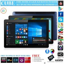 CUBE iWORK 10 64GB WITH 4G LTE MODEM DUAL OS WINDOWS 10 ANDROID 5.1 TABLET PC