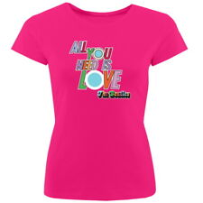 NEW OFFICIAL The Beatles All You Need Is Love Classic Ladies T-Shirt Tee Top