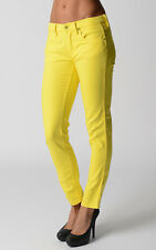 Ralph Lauren Womens Skinny Jeans Lemon Yellow Wash Pants Gift For Her NWT