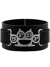 Alchemy Rocks Five Finger Death Punch Black Leather Wristband