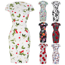 Dress Wiggle Prom Pinup Pencil Retro Floral Vintage Party 50s Bodycon Ladies
