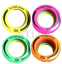 NEON COLOURED FLYING FRISBEE RING FLYER SUMMER PLAY PET OUTDOOR DISC TOYS NEW.