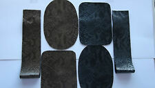 LOVELY BRONZE / SILVER SNAKE PRINT LEATHERETTE PATCHES AND CUFFS 0R FULL SET.