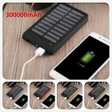 300000mAh Universal Solar Charger Dual USB External Charger Battery Power BankPL