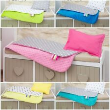 BABY MINKY blanket + pillow SET 100x75 cm XL  soft for cot bed filled bedding