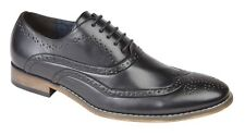 Goor Shoes Leather Lined 5 Eyelet Oxford Brogues M014A - Black