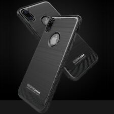 étui housse Silicone iPhone X 10 Ten Carbon Antichoc Navy + verre trempé