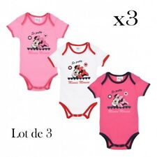 Disney Minnie lot de 3 body bébé Fille