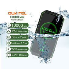 "5.5"" OUKITEL K10000 MAX 13mp 4g SMARTPHONE 10000mah Impermeable Android 7"