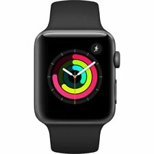 Apple Watch Series 3 (GPS) 42mm Smartwatch (Space Gray Aluminum Case, Black Spor