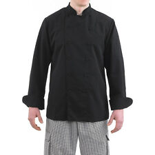 Brand New Mandarin Collar Chef Jacket Black XS-5XL
