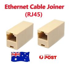 RJ45 Coupler Connector Joiner Extender For Cat5 5e Ethernet Network Lan Cable OZ