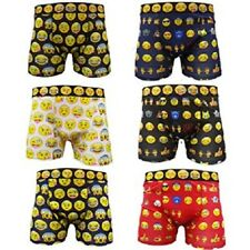 NEW MENS 6 PAIRS EMOJI FACES BOXER COTTON RICH SHORTS UNDERWEAR S-XL
