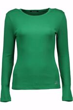 53195t-shirt donna datch donna t-shirt verde datch con manica lunga con col…