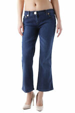 83597jeans donna husky husky donna jeans a pinocchietto made in italy: stra…