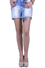 71631shorts donna 525 525 donna shorts made in italy: chiusura frontale a c…