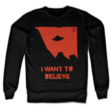 Officially Licensed The X-Files- I Wan't To Believe Sweatshirt S-XXL Sizes