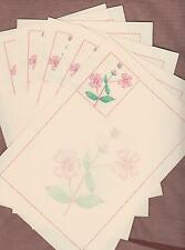 Pretty Pink Wild Flowers Campion (watermark) Letter Writing Paper Stationery Set