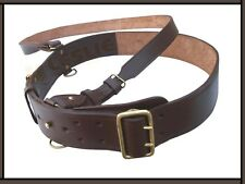 Leather Sam Browne Belt, BROWN Colour, Size 32 - Size 50